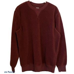 Gap Sweats Teddy Crewneck Sweater Large Tall Wine